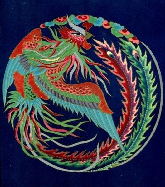 5. Qadimgi Xitoyning eng keng tarqalgan emblemasi - qushlar.